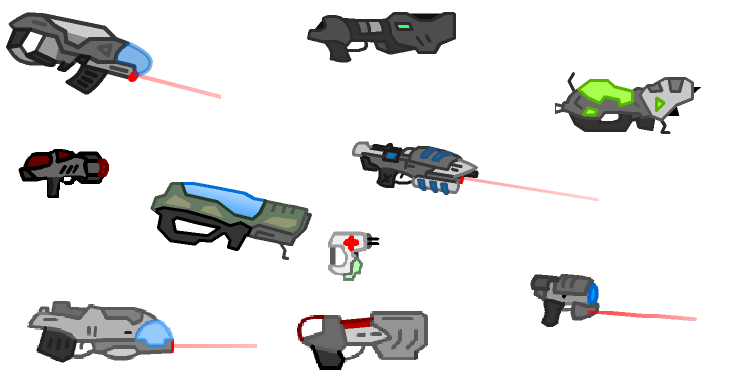 nearly all weapons from the game